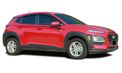 BOLT : Hyundai Kona Vinyl Graphics Upper Body Door Decals Stripes Kit for 2018-2021 Models (M-PDS-7267)
