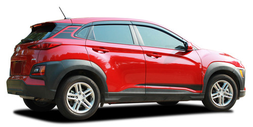 SPIRE : Hyundai Kona Vinyl Graphics Lower Body Door Decals and Rear Stripes Kit for 2018-2021 Models (M-PDS-7253)