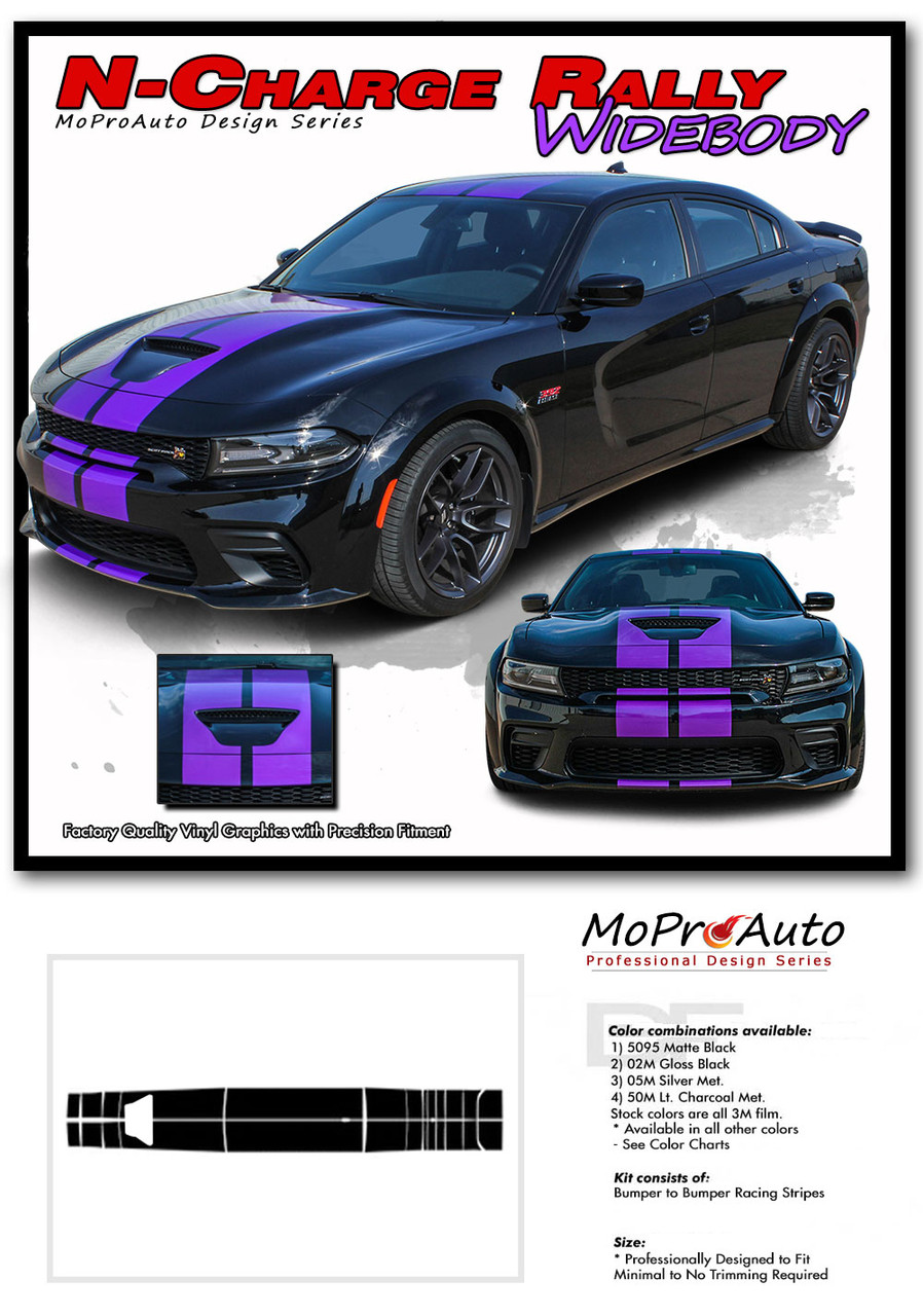 2015, 2016, 2017, 2018, 2019, 2020 RT SCAT PACK SRT 392 HELLCAT Rally Racing Stripes Dodge Charger Vinyl Graphics, Striping and Decals Set
