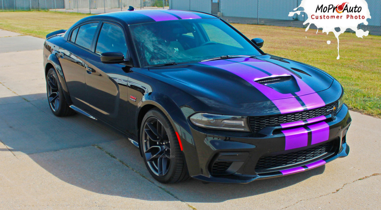 2015, 2016, 2017, 2018, 2019, 2020, 2021 Widebody RT SCAT PACK SRT 392 HELLCAT Rally Racing Stripes Dodge Charger Vinyl Graphics, Striping and Decals Set