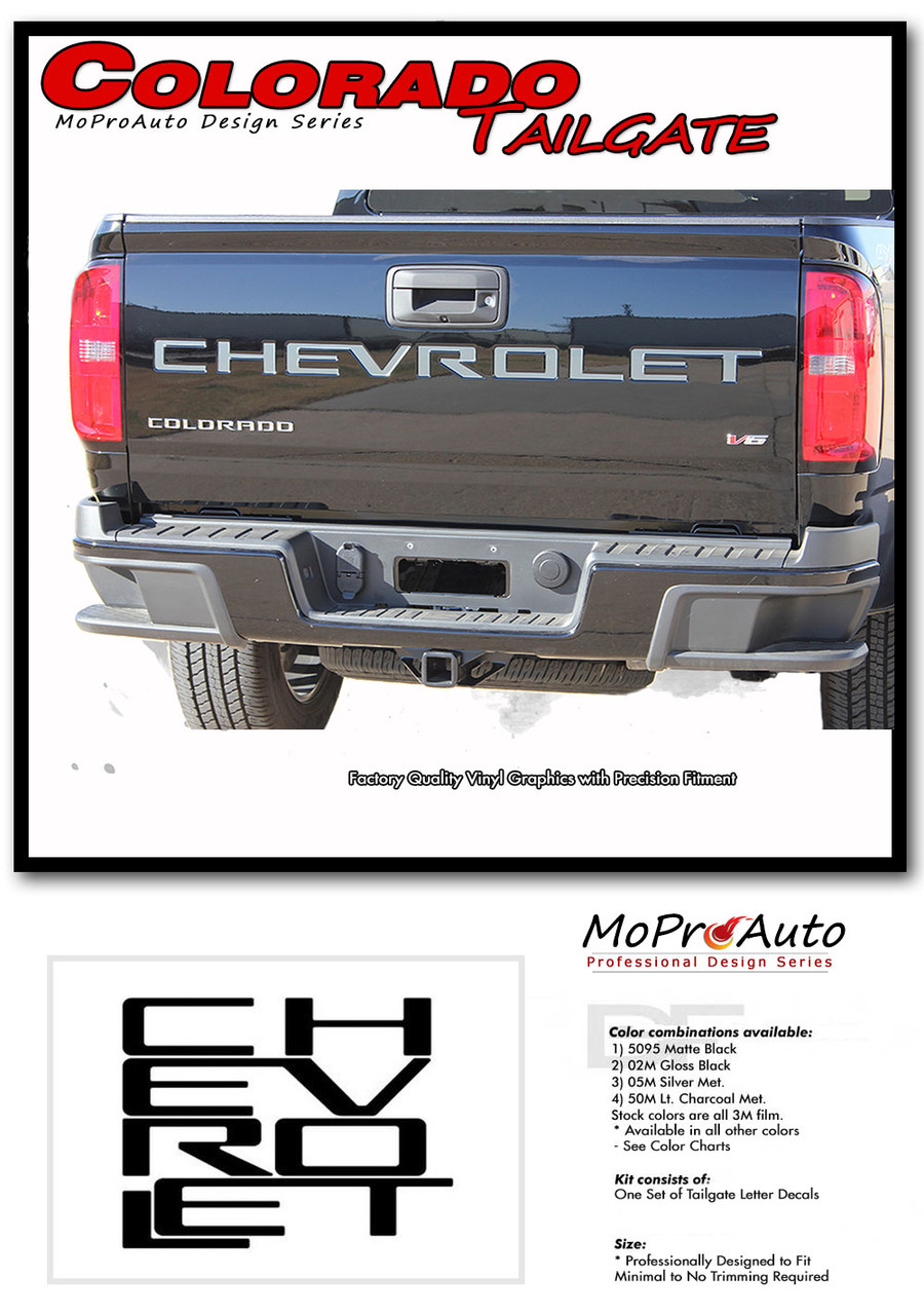 2021 CHEVY COLORADO TAILGATE TEXT LETTERS CHEVY COLORADO - MoProAuto Pro Design Series Vinyl Graphics, Stripes and Decals Kit