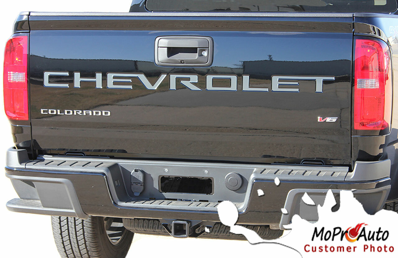 CHEVY COLORADO TAILGATE TEXT LETTERS - Chevy Colorado Vinyl Graphics, Stripes and Decals Package by MoProAuto Pro Design Series