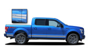F-150 ROCKER TWO : Ford F-150 Lower Rocker Panel Stripes Vinyl Graphics and Decals Kit for 2015, 2016, 2017, 2018, 2019, 2020, 2021 F-Series Models (M-PDS3526)