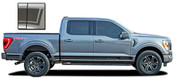 F-150 ROCKER THREE : 2021 Ford F-150 Lower Rocker Panel Stripes Vinyl Graphics Decals Kit (M-PDS-7472)