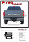 F-150 TAILGATE LETTERS : 2021 Ford F-150 Rear Tailgate Text Decals Letter Stripes Vinyl Graphics - Details
