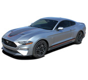 SUPERSONIC (Digital Print) : Ford Mustang Racing Stripes Mach 1 Style Rally Decals Vinyl Graphics Kit fits 2018 2019 2020 2021 (M-PDS-7537)