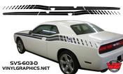 Dodge Challenger Strobe Dual Side Stripes