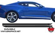 2016 Camaro Double Rocker Accent Stripes