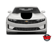 2020 Camaro Wide Solid With Pinstripe Rally Hood To Spoiler Stripe