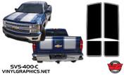 2015 Chevy Silverado Hood/Tailgate Rally Stripe Kit