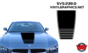 2006-2010 Dodge Charger Strobe Narrow Hood Graphic