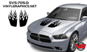 2011-2014 Dodge Charger Flame Hood Inserts