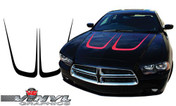 2011-2014 Dodge Charger Hood Scallop Inserts