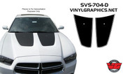 2011-2014 Dodge Charger Pinstripe Hood Inserts