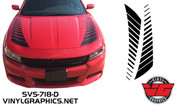 2015 Dodge Charger Strobe Hood Accent Stripes