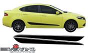 2013-2016 Dodge Dart Lower Side Stripe w/ Pinstripe