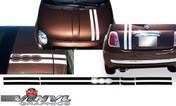 2012-2014 Fiat 500 Italian Rally Stripes
