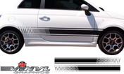 2012-2014 Fiat 500 Strobe Rocker Stripe