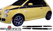 2012-2014 Fiat 500 Upper Checkered Stripe
