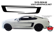 2015 Ford Mustang Solid Reversible Side C-Stripes