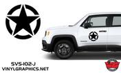 Jeep Renegade Circle Star Hood/Door Graphics
