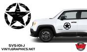 Jeep Renegade Distressed Star Hood/Door Graphics