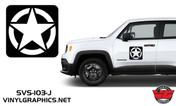 Jeep Renegade Square Star Hood/Door Graphics