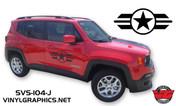 Jeep Renegade Star & Bars Hood/Door Graphics