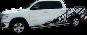 2019-2020 Dodge Ram Power Side Truck Bed Stripe Vinyl Graphics Decal Kit (M-GRD347)