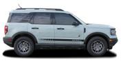 BREAK : Ford Bronco Side Door Rocker Stripes Vinyl Graphics Decals Kit for 2021 2022 2023 (M-PDS-7621)