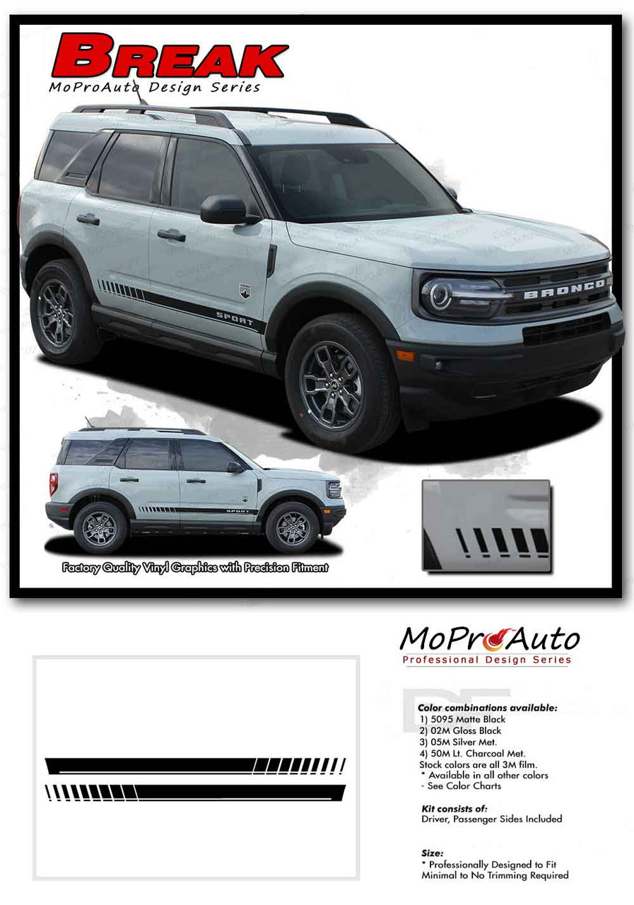 2021 2022 Ford Bronco BREAKER Vinyl Graphics and Decals Kit - MoProAuto Pro Design Series
