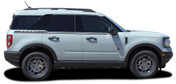 LINEAR : Ford Bronco Side Door Stripes Vinyl Graphics Decals Kit for 2021 2022 2023 (M-PDS-7616)
