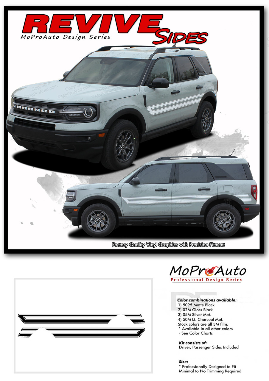 2021 2022 Ford Bronco REVIVE Vinyl Graphics and Decals Kit - MoProAuto Pro Design Series