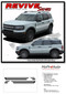 REVIVE : Ford Bronco Retro Side Body Door Stripes Vinyl Graphics Decals Kit for 2021 2022 2023 - Details