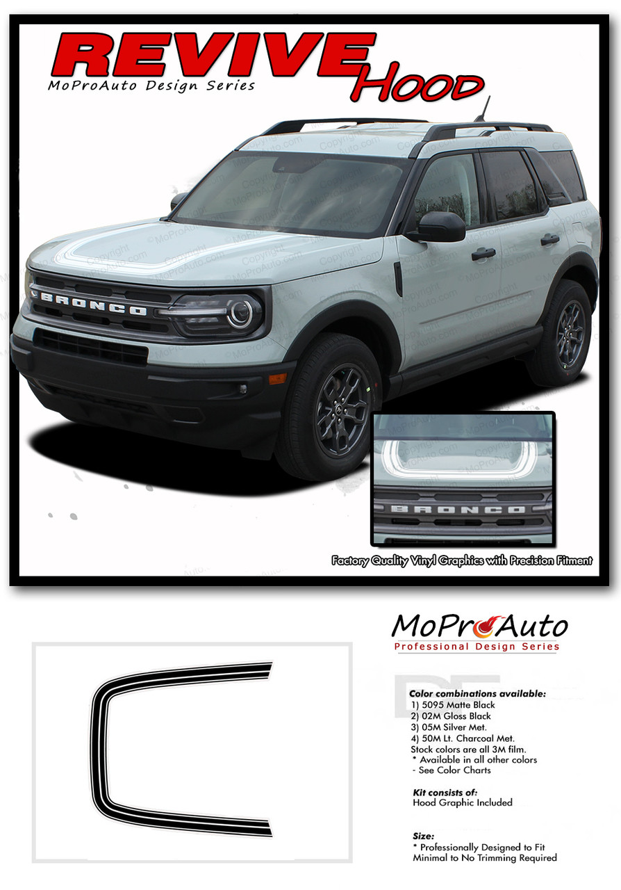 2021 2022 Ford Bronco REVIVE HOOD Vinyl Graphics and Decals Kit - MoProAuto Pro Design Series