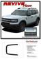 REVIVE HOOD : Ford Bronco Hood Stripes Vinyl Graphics Decals Kit for 2021 2022 2023 - Details