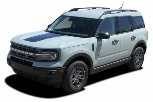RIDER HOOD : Ford Bronco Hood Decals Stripes Vinyl Graphics Kit for 2021 2022 2023 (M-PDS-7614)