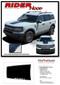 RIDER HOOD : Ford Bronco Hood Decals Stripes Vinyl Graphics Kit for 2021 2022 2023 - Details