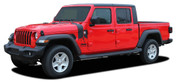 CASCADE : Jeep Gladiator Side Body Mountain Vinyl Graphics Decal Stripe Kit for 2020-2021 Models (M-PDS-7700)