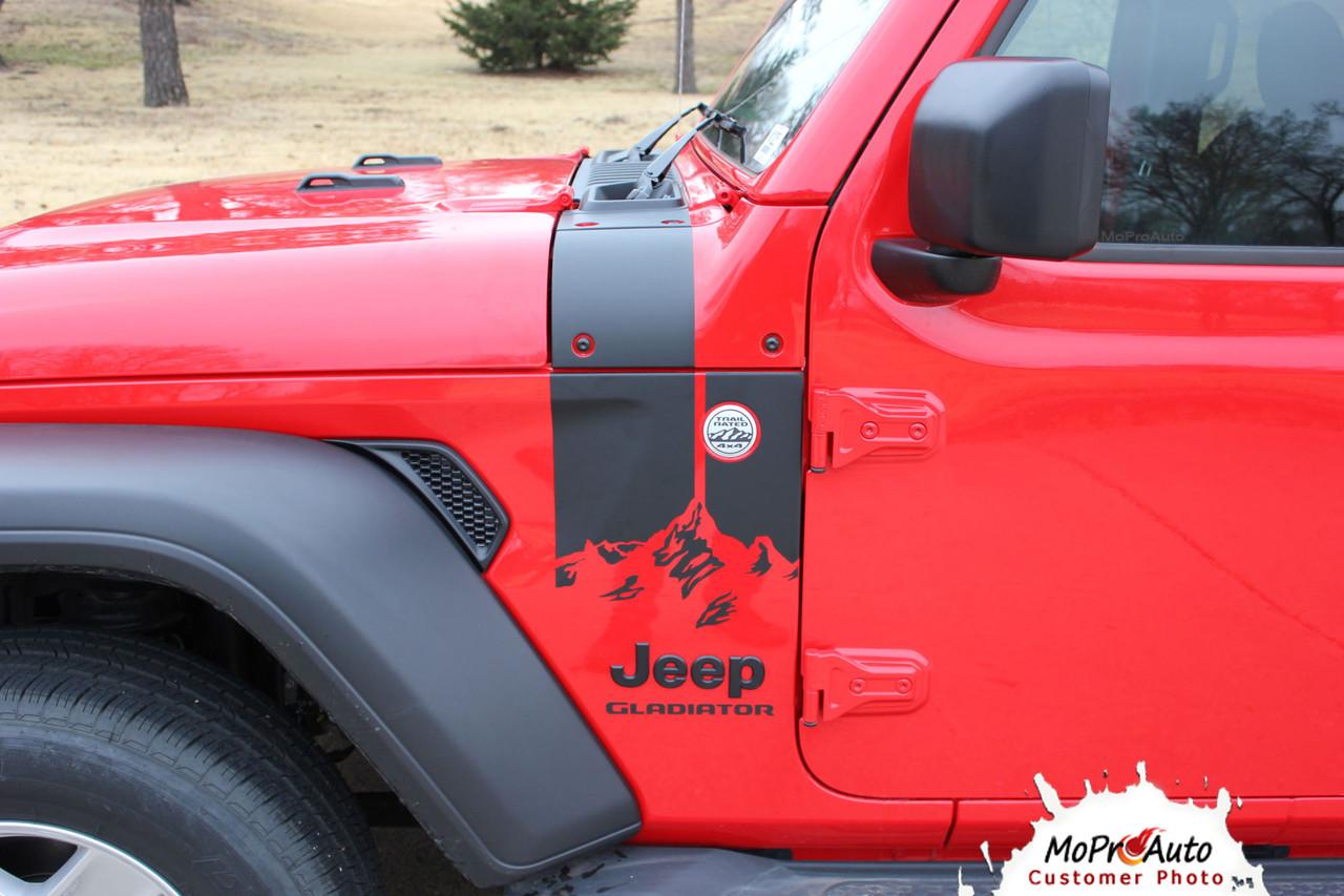 Jeep Gladiator Decals, Jeep Gladiator Stripes, Gladiator Graphics