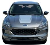 2020 EVADE HOOD : Ford Escape Hood Vinyl Graphics Decals Stripes Kit 2020-2021 Models (M-PDS-7742)