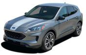 2020 SABRE HOOD : Ford Escape Hood Vinyl Graphics Decals Stripes Kit 2020-2021 Models (M-PDS-7741)