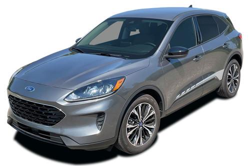 2020 EVADE SIDES : Ford Escape Side Door Rocker Stripes Vinyl Graphics Decals Kit 2020-2021 Models (M-PDS-7744)