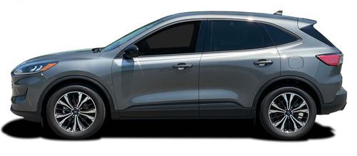 2020 SABRE SIDES : Ford Escape Side Door Upper Stripes Vinyl Graphics Decals Kit 2020-2021 Models (M-PDS-7743)