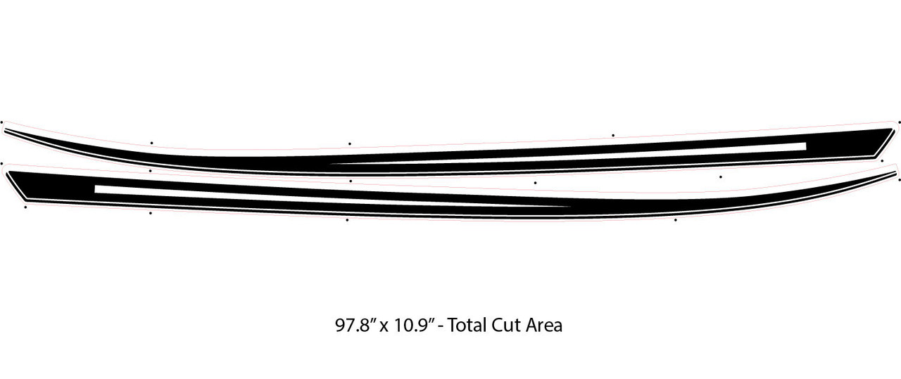 SABRE Ford Escape Side Decals, Vinyl Graphics, Stripes and Decals Kit