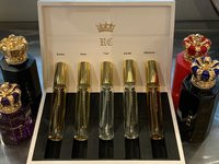Royal Crown Discovery Set (5 x10mls)  Extrait of Parfum Sprays in White Leather Case. (no. 3)