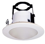 """4"""" Line Voltage Frosted Dome Lens With Brackets"""