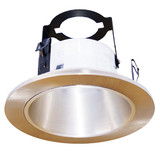"4"" Line Voltage Open Reflector With Bracket Satin Nickel"