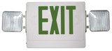 Combination Emergency & Exit Light Green