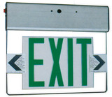 Edge Lit Exit Light Green